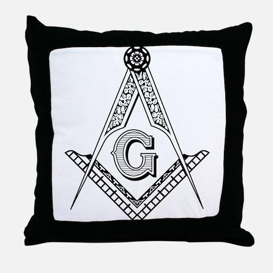 Masonic Symbol Throw Pillow