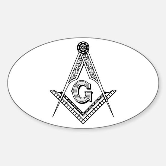 Masonic Symbol Oval Decal