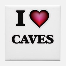 I love Caves Tile Coaster