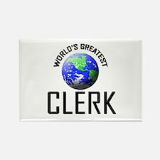 World's Greatest CLERK Rectangle Magnet (10 pack)