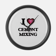 I love Cement Mixing Large Wall Clock