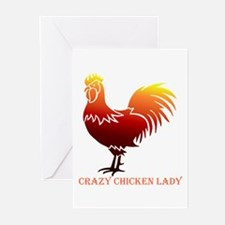 Crazy Chicken Lady Fun Quote with R Greeting Cards