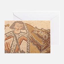 Cute Bear mosaics Greeting Card