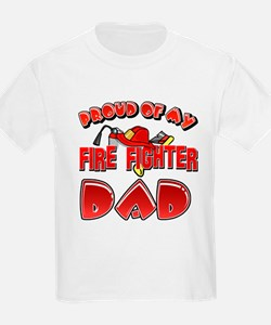 Proud of my Firefighter dad T-Shirt