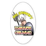 warrior children Oval Sticker