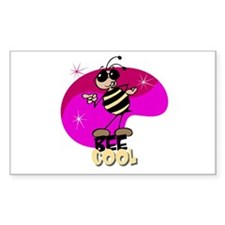 Bee cool! Rectangle Decal