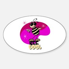 Bee cool! Oval Decal