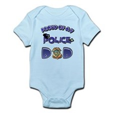 Proud of my Police dad Infant Bodysuit