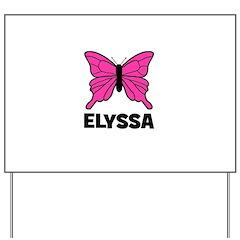 Elyssa - Butterfly Yard Sign