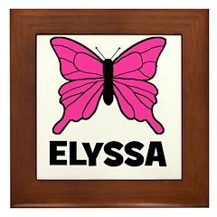Elyssa - Butterfly Framed Tile