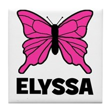 Elyssa - Butterfly Tile Coaster