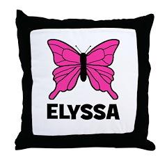 Elyssa - Butterfly Throw Pillow