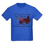 Ride Him Like My Sled Kids Dark T-Shirt