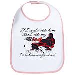 Ride Him Like My Sled Bib