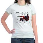 Ride Him Like My Sled Jr. Ringer T-Shirt