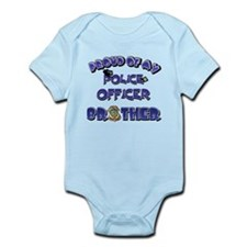 Proud of My Police Officer Brother Infant Bodysuit