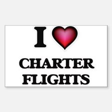 I love Charter Flights Decal