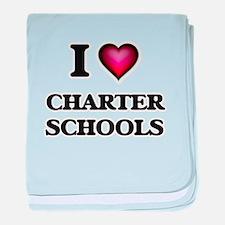 I love Charter Schools baby blanket