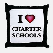 I love Charter Schools Throw Pillow