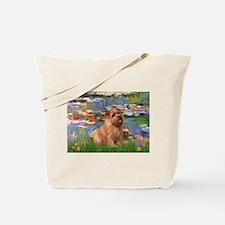 Lilies /Norfolk Terrier Tote Bag