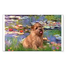 Lilies /Norfolk Terrier Decal