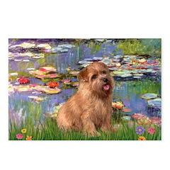 Lilies /Norfolk Terrier Postcards (Package of 8)