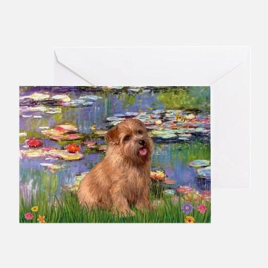 Lilies /Norfolk Terrier Greeting Card