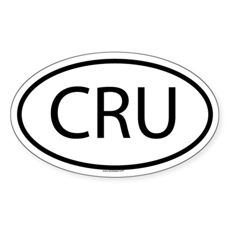 CRU Oval Sticker