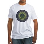 Spiral Peace Sign Fitted USA-Made T-Shirt