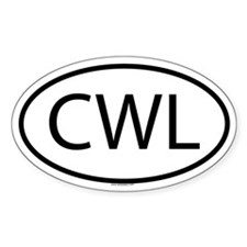 CWL Oval Decal