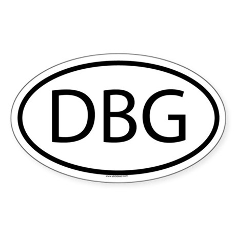 DBG Oval Sticker