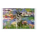 Lilies / Nor Elkhound Sticker (Rectangle)