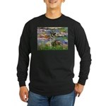 Lilies / Nor Elkhound Long Sleeve Dark T-Shirt