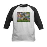 Lilies / Nor Elkhound Kids Baseball Jersey