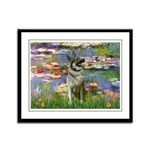 Lilies / Nor Elkhound Framed Panel Print