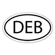 DEB Oval Decal