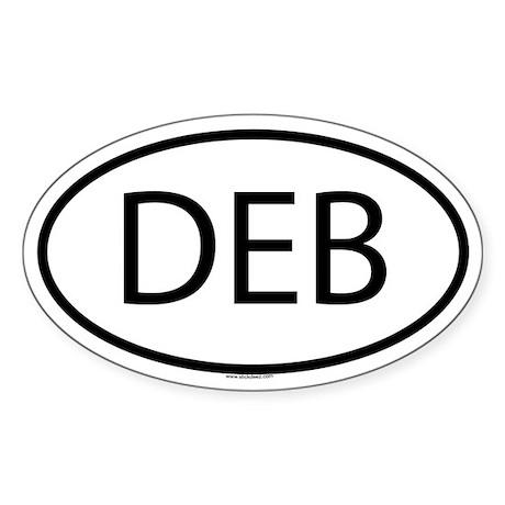 DEB Oval Sticker