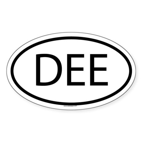 DEE Oval Sticker