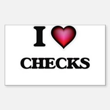 I love Checks Decal