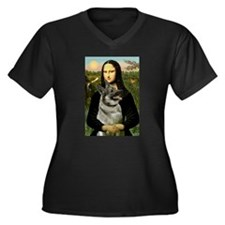 Mona / Nor Elkhound Women's Plus Size V-Neck Dark