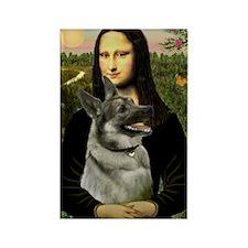 Mona / Nor Elkhound Rectangle Magnet