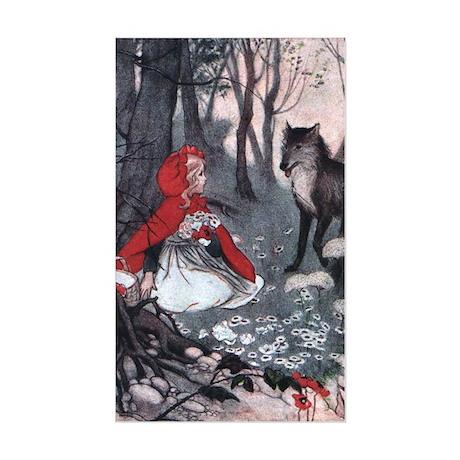 Little Red Riding Hood Rectangle Sticker