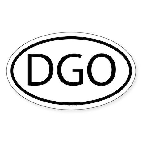 DGO Oval Sticker