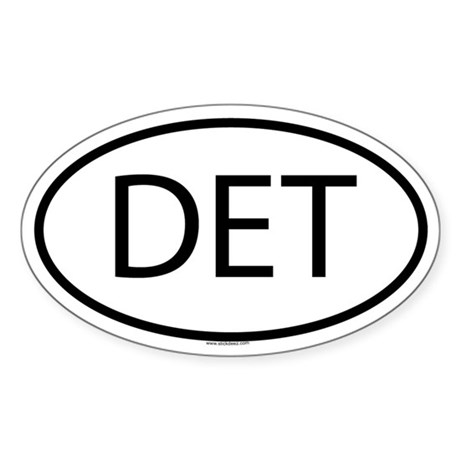 DET Oval Sticker
