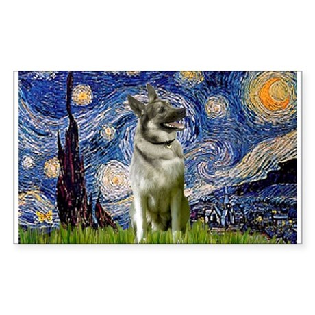Starry / Nor Elkhound Sticker (Rectangle)