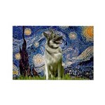 Starry / Nor Elkhound Rectangle Magnet (10 pack)