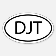 DJT Oval Decal
