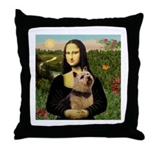 Mona / Norwich Terrier Throw Pillow
