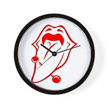 Tongue Piercing #001 Wall Clock