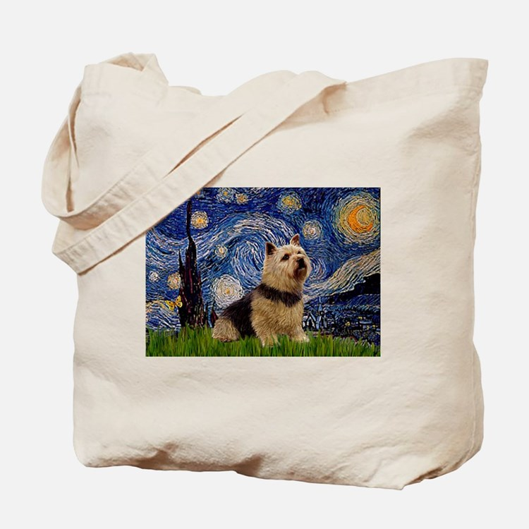 Starry /Norwich Terrier Tote Bag